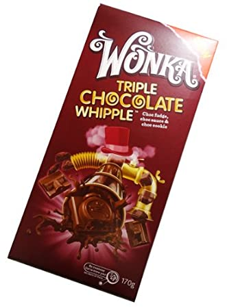 Wonka Chocolate Block 170g Made In Australia Triple Chocolate Whipple