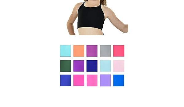 Big Girls Blue Lightweight Stylish BASIC Dancewear Camisole Bra Top 10-12