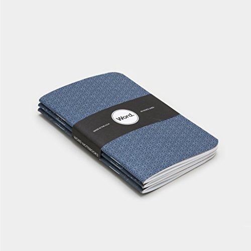 Word. Notebooks Indigo Star - 3-Pack Small Pocket Notebooks