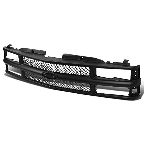 Chevrolet K1500 Front Bumper Guard (Chevy C10 C/K-Series Black Meshed ABS Plastic Front Bumper Grille)