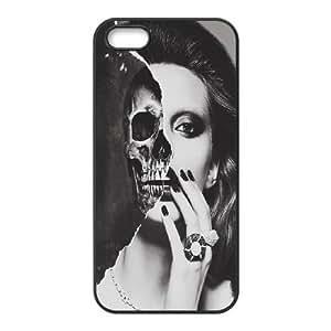 K-G-X Phone case For Apple Iphone 5 5S Cases Case-Pattern-1 Skull Art Protective Back Case