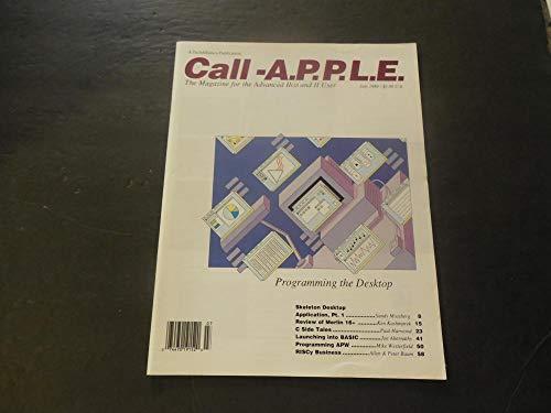 Call APPLE Jul 1989 Programming The Desktop; RISCy Business; BASIC