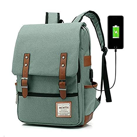 a334d828f MCWTH Travel Laptop Backpack, Business Slim Durable Tablet Backpack with  USB Charging Port,Water