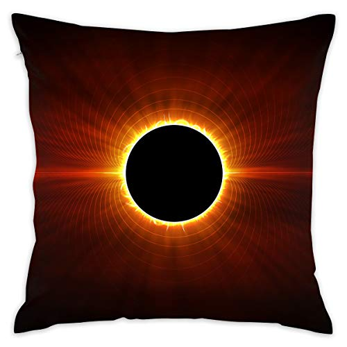 Karen Felix Throw Pillow Covers Solar Eclipse Sun Decorative Cushion Case for Sofa Bedroom Car 18 X 18 Inch 45 X 45 cm]()
