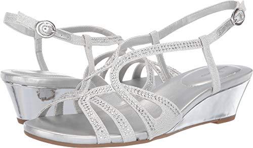 - Bandolino Womens Gyala Wedge Sandal Silver 7 M