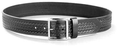 Gould /& Goodrich B52 Garrison Belt Black Weave Nickel Size 36