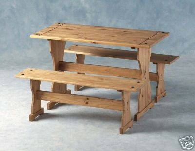 Prime Mexican Distressed Pine Dinette Set With 2 Benches Dining Gmtry Best Dining Table And Chair Ideas Images Gmtryco