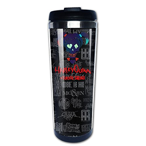 YI Own Funny Harley Quinn Coffee Mug Travel Cup One Size 400 - Delevingne Cara Glasses