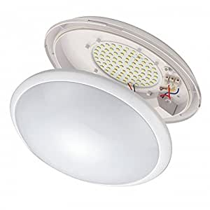 LED APLIQUE REDONDO RETTO DE TECHO O PARED 24W LUZ COLOR 4000K CALIDA