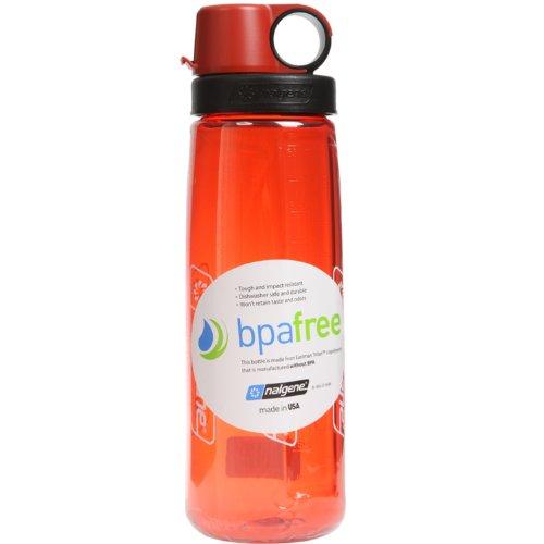 NALGENE Tritan OTG BPA-Free Water Bottle,Lollipop Red, 24 Ounce