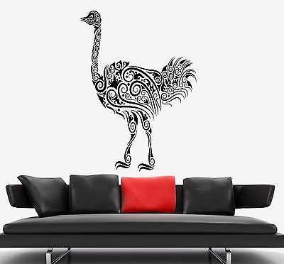 Wall Decal Ostrich Camel-Bird Ornament Tribal Mural Vinyl Decal (vs3311)