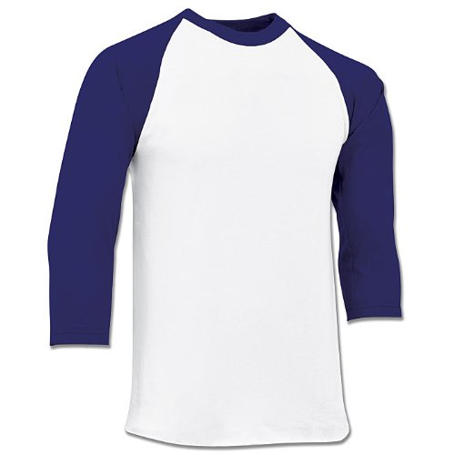 (Champro Youth 3/4 Sleeve Jersey BS8Y (Purple, X-Large))