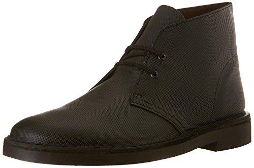 Clarks Men's Bushacre 2 Chukka Boot, Black Perforated, 8.5 M US/41.5 EU