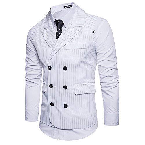 blanc 1 Costume Hommes Maigre Slim Célébration Veste De Battercake Fit D'affaires Confortable Mariage FO7w5Cq
