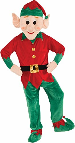 Forum Novelties Men's Plush Elf Mascot Costume, Multi