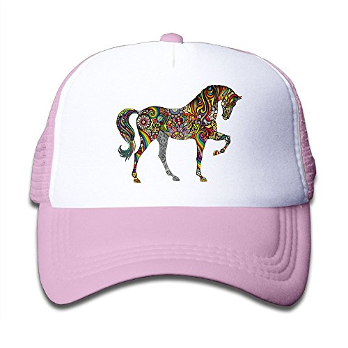 colorful Horse Colortone Girls Mesh Hat Baseball Caps Adjustable Trucker ()