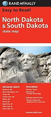 Easy To Read: North Dakota, South Dakota (Rand McNally State Maps)