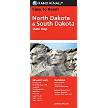 Easy To Read: North Dakota, South Dakota (Rand McNally State Maps)