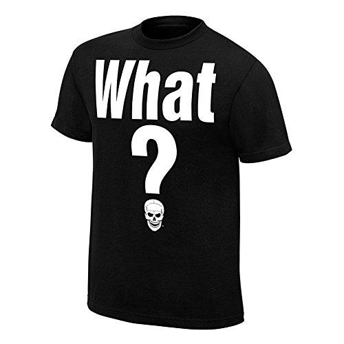 WWE Stone Cold Steve Austin What Retro T-Shirt Black Large