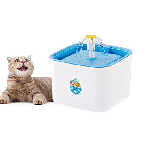 Narvokey Pet Water Fountain Dispenser, Pet Healthy and Hygienic Drinking Water Fountain,2.5L Pet Drinking Water Bowl with 2 Activated Carbon Filters for Cat,Dog Small Animal