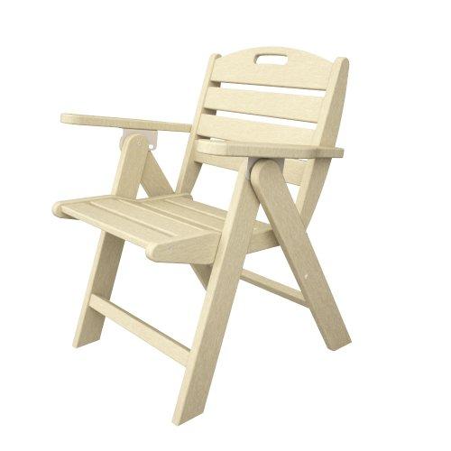 POLYWOOD NCL32SA Nautical Lowback Chair, Sand