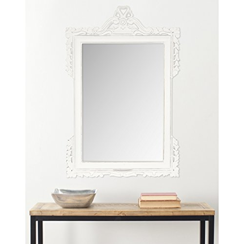 Safavieh Home Collection Pedimint Mirror, White by Safavieh
