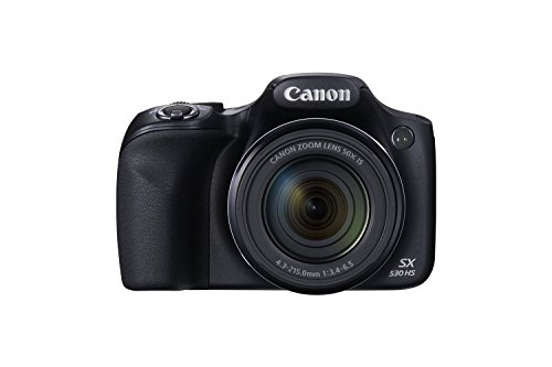 Canon PowerShot SX530 HS 16.0 MP CMOS Digital Camera with 50x Optical IS Zoom (24-1200mm), Built-in WiFi, 3-Inch LCD and 1080P Full HD Video (Black) (Certified Refurbished) (Shoot Point Tv And)