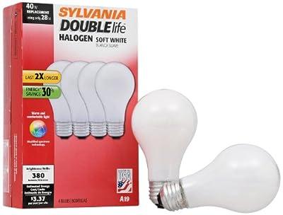 Sylvania 19009 A19 43-Watt Super Soft White