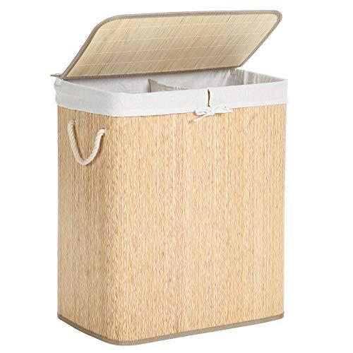 SONGMICS Bamboo Laundry Hamper with
