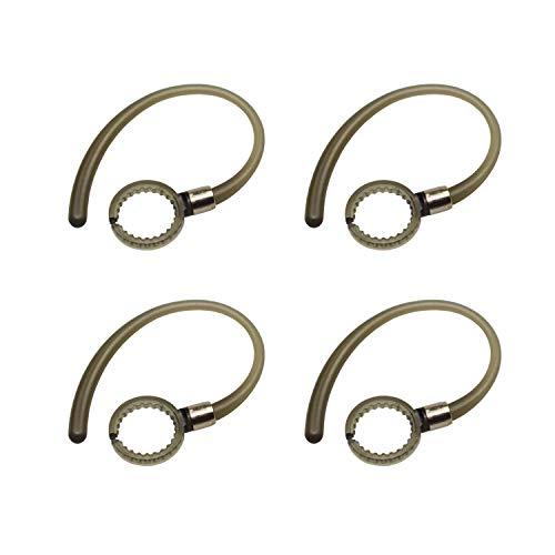 4pcs Black Earhooks for Motorola Elite Flip HZ720 HX550 H19 H19txt H17 H17txt H525 H520 Boom 89605N Wireless Headphones Headsets Ear Hooks Loops Clips (Ear Hx550 Hook Motorola)