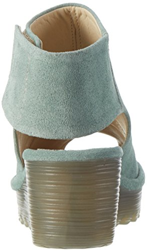 Fly London Yone642fly, Scarpe Col Tacco Donna Verde (Mint 010)