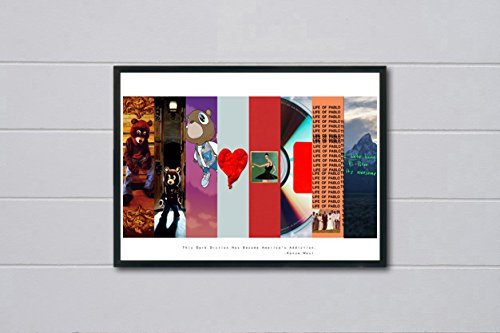 Custom Album Cover Art Collage Poster TLOP Pablo Song Lyric Quote Digital Print Large Prints Living Room Bed Room Art (FRAME NOT INCLUDED) (24x30)