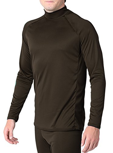 WSI Men's Arctic Microtech Form Fitted Long Sleeve Shirt, Chocolate, Youth Medium ()