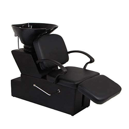 (Unionline Beauty Salon Equipment Station Unit Adjustable Bowl Spa Bowl Barber Sink Shampoo Backwash Chair (Adjustable Shampoo))