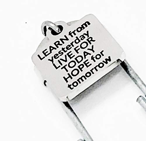 Paperclip Bookmark Charm Bookmark HOPE For Tomorrow Bookmark LEARN From Yesterday LIVE For Today Planner Bookmark Bookmark Gift
