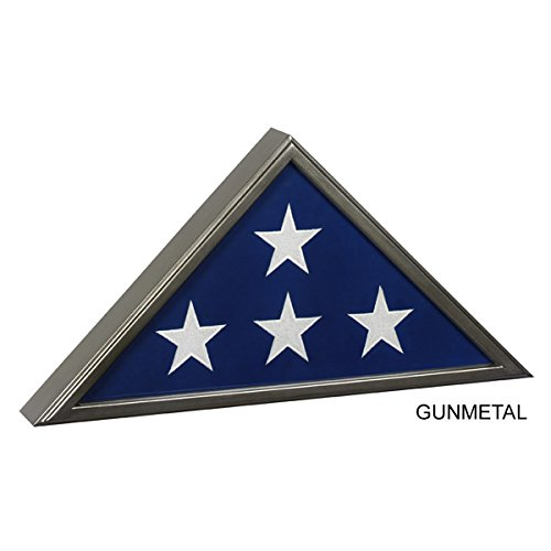 Gunmetal Veteran Flag Display Case - FG-MDCSP10-GM