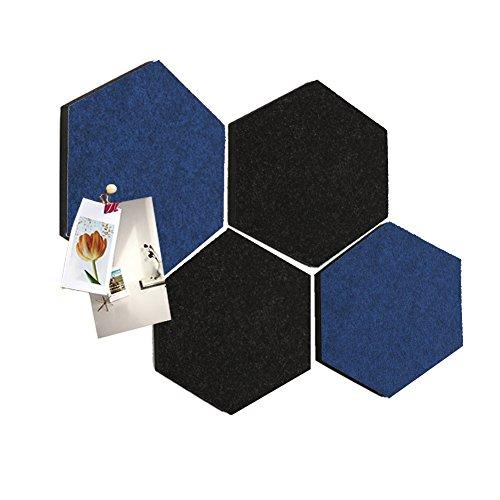 Thehaki Sandwich Felt Board Hexagon Type Memo Board (Winter 4pcs - Mirror Framed Hexagon
