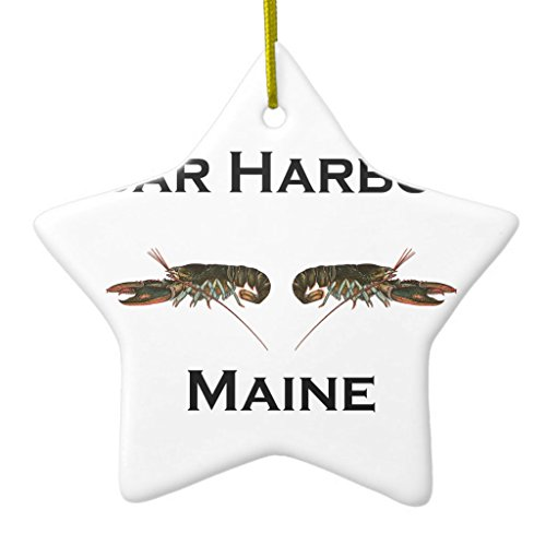Ornament Harbor Bar (Zazzle Bar Harbor Maine Metal Ornament Star)