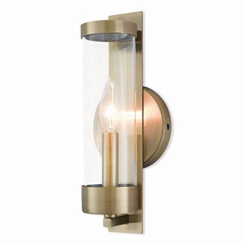 Livex Lighting 10141-01 Castleton Antique 1 Light Ada Wall Sconce, Brass
