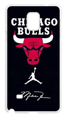 Hoomin Chicago Bulls Air Michael Jordan Logo Samsung Galaxy Note4 Cell Phone Cases Cover Popular Gifts(Laster Technology)
