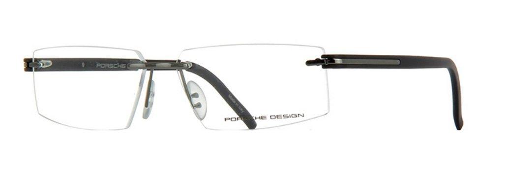 Porsche Design P8153 S4 C 58-13 Men's Designer Rimless Vision Eye Glasses Grey/Black