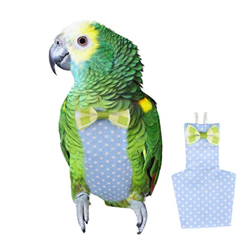 Shirazawa Health Diaper New Pet Bird Clothes Suit Sweet Puppy Princess Bow Lace Shirt Skirt Pink Tutu ()