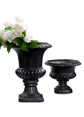 Black Polyresin Urn (large)
