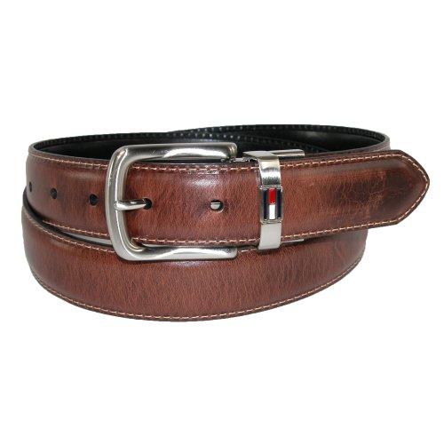 Tommy Hilfiger Men's Leather Reversible Belt,Brown/black,34 (Leather Reversible Jeans)