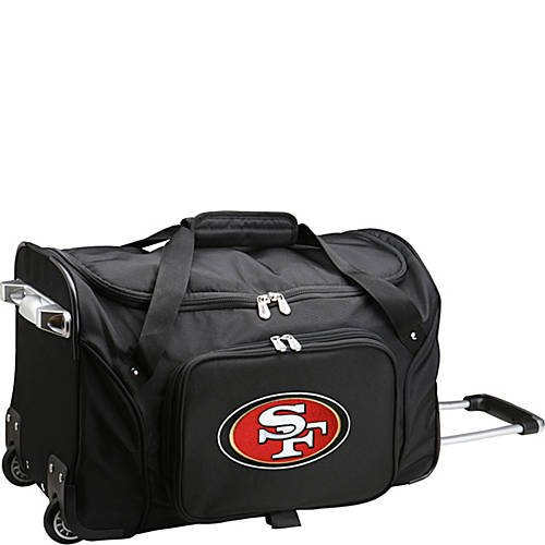 NFL 22'' Rolling Duffel San Francisco 49ers by TableTop King