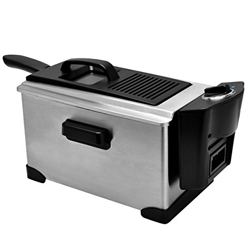 Netsc19 Electric Deep Fryer Stainless Steel 1600W With Tempe
