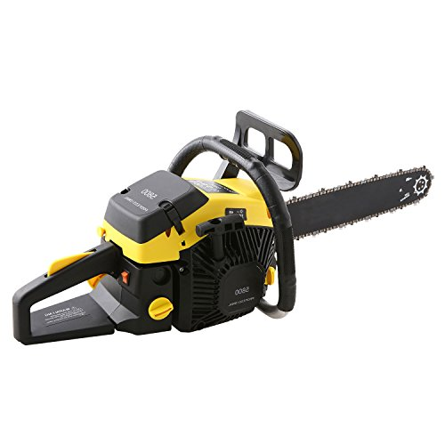 Korie 20-Inch 58cc Petrol ChainSaw - 3.4HP, 2-stroke Gas Powered Chainsaw with Tool Bag- Cutting Wood Chainsaw for Farm, Garden and Ranch(US STOCK) (58cc-Yellow)
