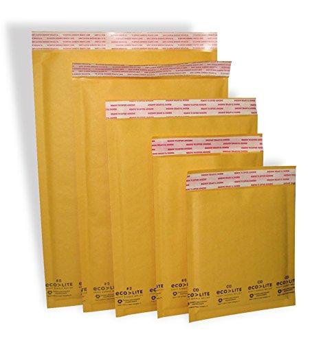Polyair Eco-lite #4 ELSS4 Golden Kraft Bubble Mailer, 9.5
