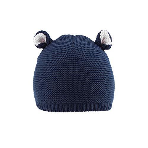 LLmoway Toddler Infant Beanies Boys Girls Knit Hat Cotton Cute Crochet Kids Navy Beanie Skull Cap, 1T-1.5T
