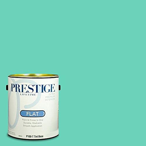 Prestige Paints Interior Paint and Primer In One, 1-Gallon, Flat,  Comparable Match of Valspar Aqua Quartz